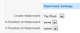 Разрешаем watermarks